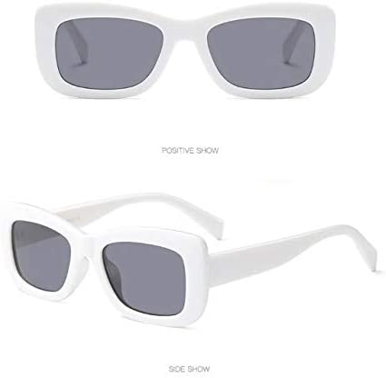RJGOPL des lunettes de soleil Rectangle feminino oculi de proteção plat espelho marque designer petit caixa senhoras oculi uv400 éviter bask C3