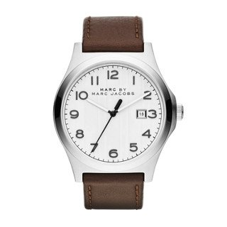 Men's MBM5045 Jimmy Stainless Steel Watch with Brown Leather Band (Marc By Marc Jacobs Gifts)