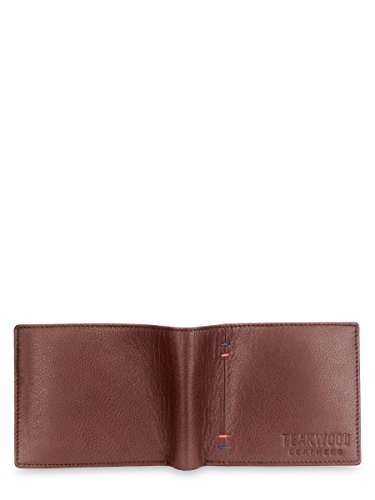 Real Teakwood Men Wallet Extra Leather Capacity Bifold Genuine For Slimfold SFxFPwaq