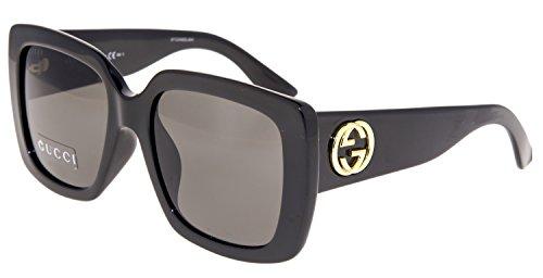 Gucci Oversize Shiny Black Sunglasses - Square Gucci Sunglasses Oversized