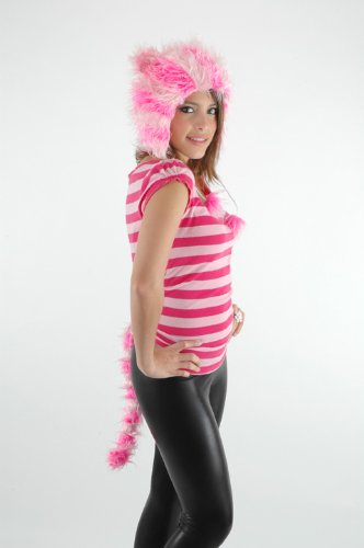 Cheshire Cat Tim Burton Costume (Elope Cheshire Catarina Hat and Tail)
