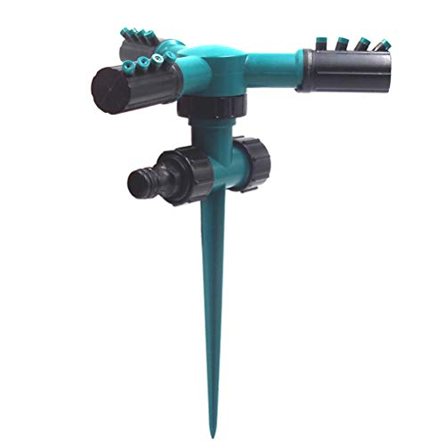 NICEXMAS Aspersores de césped para jardín, Reguladores automáticos de Agua giratorios de 360 Grados para el Sistema...