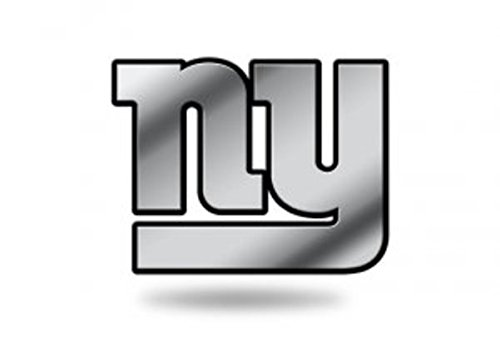 Rico Industries NFL New York Giants Chrome Finished Auto Emblem 3D Sticker