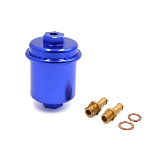 Sourcingmap Universal Car Vehicle Blue Engine Petrol Diesel Gas Inline Fuel Filters 10mm: