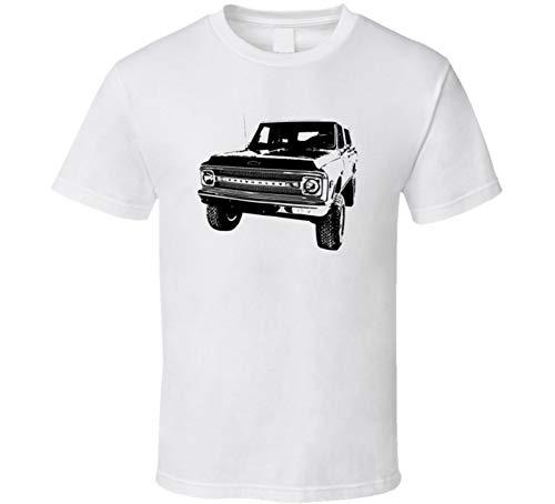 (1969 K5 Blazer Three Quarter View Light Color T Shirt L White)