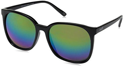 Neff Men's Jillian, Black Rainbow, One - Spectra Neff Sunglasses