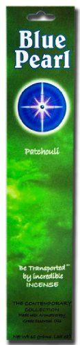 Incense Blue - Blue Pearl Contemporary Collection Incense, Patchouli, 10 Gram