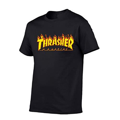 59a08355b Nemanman Thrasher-Magazine Youth Kids Raglan Jersey Short Sleeve Baseball T  Shirts (Black