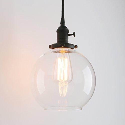 Glass Globe Pendant Light Shade in US - 7