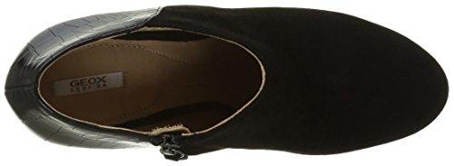 Geox D New Mariele High a, Zapatos de Tacón para Mujer Schwarz (BLACKC9999)