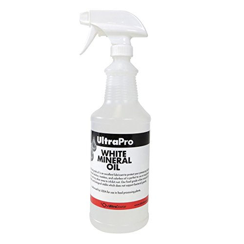 32 oz. Spray Bottle - Food Grade Mineral Oil for Stainless Steel, Cutting Boards and Butcher Blocks, NSF by UltraSource