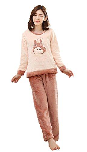 CHAIRAY Cute Anime My Neighbor Totoro Nightgown Sleeve Costume Pajamas XXL Apricot
