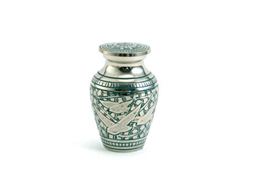 - Hand Crafted Brass Going Home Elite Memorial Urn - Keepsake - Includes FREE Liberty Microfiber Cloth