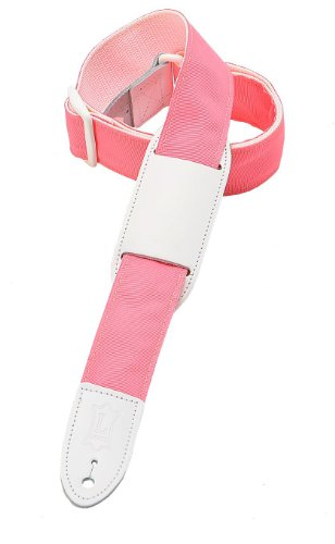 Levy's Leathers M8PJG-PNK Polypropylene Girls' Guitar Strap,Pink