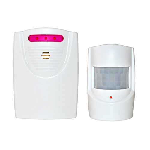 ALEKO QH-9822A White Safety Driveway Patrol Infrared And Wireless Home Security Alert Alarm System Kit by ALEKO