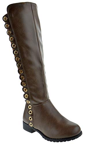 CC Fifty-56K Little Girls Knee High Riding Boots Brown 2 -