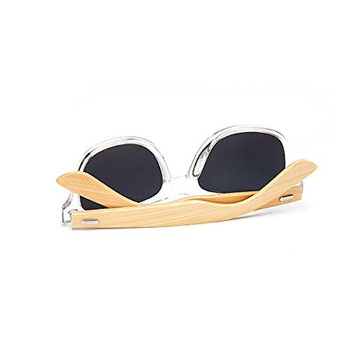 de bordées soleil de Lunettes Classic bois branches en et de corne C14 Huicai bambou xtPIXqfwt