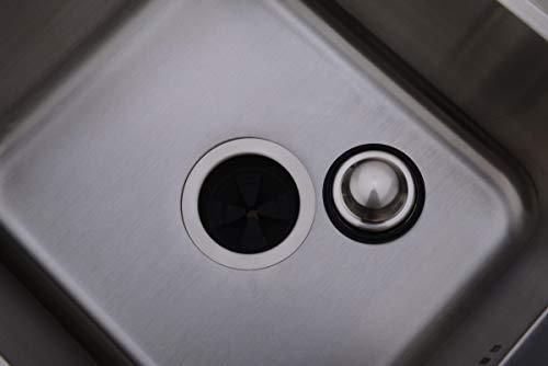 BESTILL Brass Kitchen Sink Flange Kit for 3-Bolt Mounted Garbage Disposal,Brushed Nickel by BESTILL (Image #1)