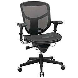WorkPro(R) Quantum 9000 Series Ergonomic Mesh Mid-Back Chair, Black (Breeze Chair Highback)