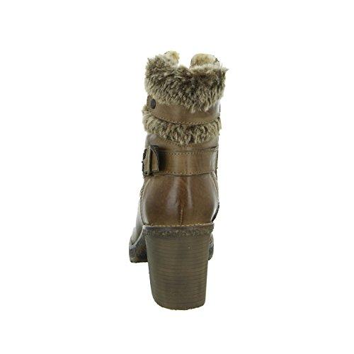 BOXX Stiefelette WH-036H13-S Damen Warmfutter Leder Braun