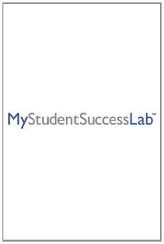NEW MyStudentSuccessLab 2012 Update -- Standalone Access Card (MyStudentSuccessLab (Access Codes))