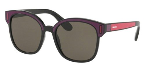 Prada Women's 0PR 05US Black/Bordeaux/Fuchsia/Brown One - Prada Warranty Sunglass