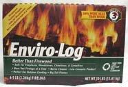 Enviro-Log, Fire Log Case, 80 Ounce, 6 Pack by Enviro-Log