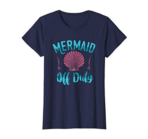 Mermaid Off Duty T Shirt Ocean Seashell -