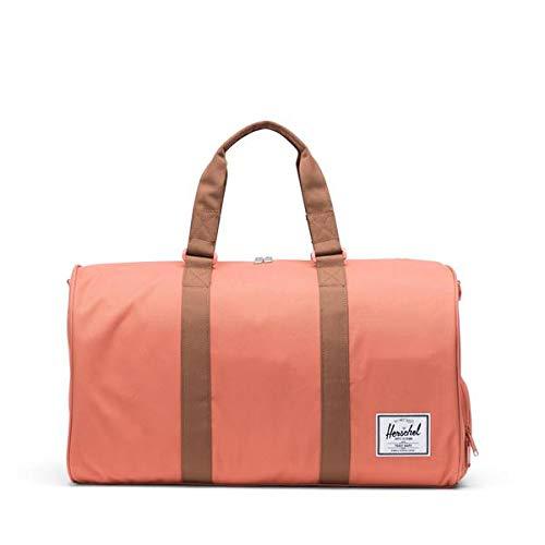 Herschel Novel Duffel Bag, Apricot Brandy/Saddle Brown, One Size