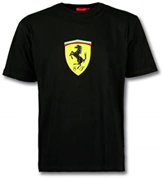 Mx Games Camiseta Negra Logo Ferrari (Talla: Talla XXL Unisex Ancho/Largo [60cm/75cm] Aprox): Amazon.es: Juguetes y juegos