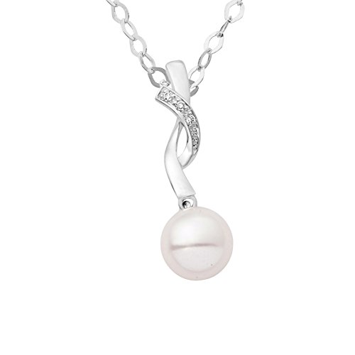 Miore - MG9175N - Collier Femme - Or Blanc 9 Cts 375/1000 1.88 Gr - Perle d'eau douce