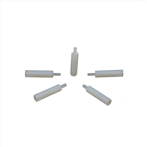 100pcs Nylon Hex Standoff Spacer Replacement M2 Female to Male 18mm+6mm ()