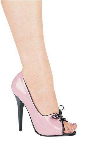 Scarpe Ellie Scarpe Da Donna Tacco A Due Punte Sandalo Bicolore Rosa E Nero