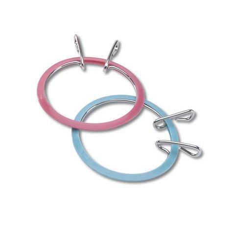 Bulk Buy: Darice DIY Crafts Spring Tension Hoops Blue/Mauve