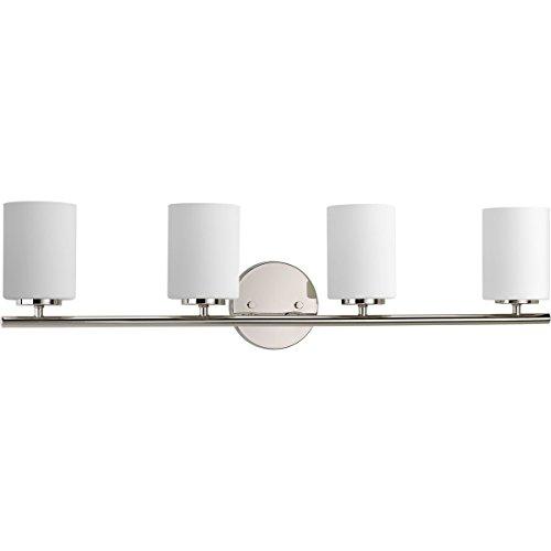 Progress Lighting P2160-104 Contemporary/Soft 4-100W Med Bath Bracket, Polished Nickel (Store Fixtures Lighting)