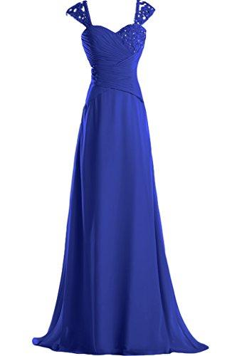 Missdressy - Vestido - trapecio - para mujer Azul Real 44