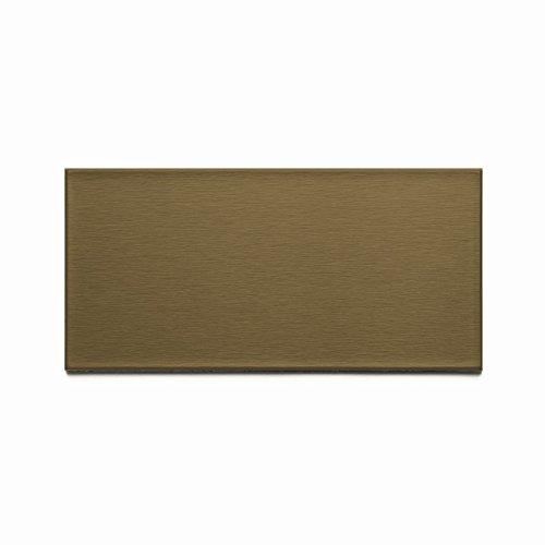 - Aspect Peel and Stick Backsplash Brushed Bronze Long Grain Metal Tile Sample for Kitchen and Bathrooms (3