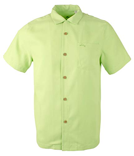Tommy Bahama Island Zone Royal Bermuda Silk Blend Camp Shirt (Color: Caicos Green, Size L)