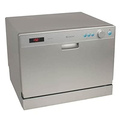 EdgeStar DWP61E 22 Inch Wide 6 Place Setting Countertop Dishwasher with Compact
