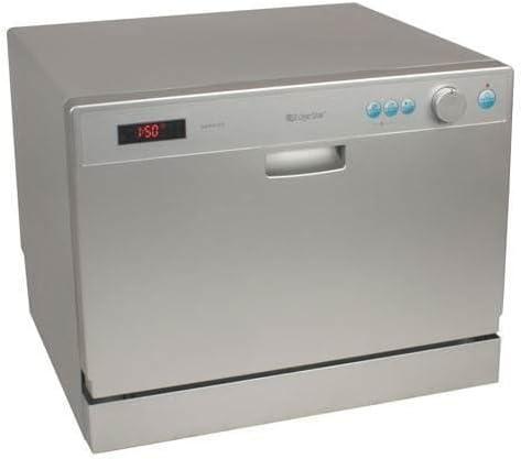 EdgeStar 6 Place Setting Countertop Portable Dishwasher - Silver