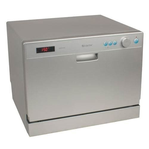 : EdgeStar 6 Place Setting Countertop Portable Dishwasher - Silver