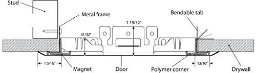 10'' x 10'' Removable / Adjustable Access Door - Cendrex by Cendrex