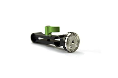 Lanparte ARL-01T-D Arri Rosetter Lock Threaded Hole with Double Rod Clamp (Black) by LanParte