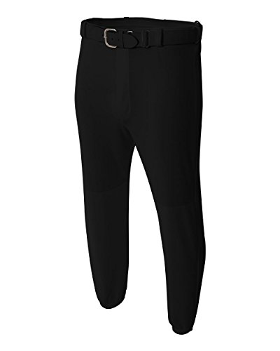 Black Youth Large Baseball Pants Moisture Wicking Cool Comfortball Pull-up Baseball/Softball Pants A4 Youth Baseball Pant