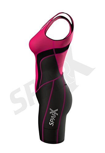 Sparx Women Triathlon Suit Tri Short Racing Cycling Swim Run (Small, Pink) by Sparx Sports (Image #3)