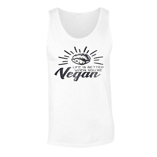 Das Leben Ist Besser, Wenn Du Vegan Schwarz Bist Herren Tank top n188mt