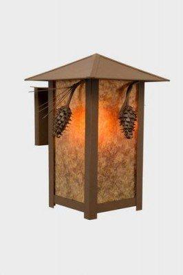 Ridge Lamp Handcrafted (Steel Partners Ridge Top Sconce - Ponderosa Pine)