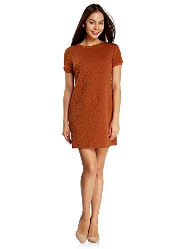Textur Orange oodji 3100n Femme en Tissu Coupe Robe Ample Ultra xZ0qF1w