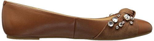 Nine West Dark Maudisa Women's Natural Leather Natural Loafer Flat Dark BBqrd1