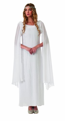 Rubie's Costume The Hobbit Galadriel Dress With Headpiece, White, Adult One Size (Adult Hobbit Costume)